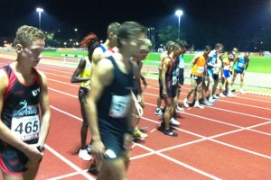 startveld 1e serie 3.000 meter