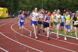 start 3.000 m. 1e competitiewedstrijd Spijkenisse