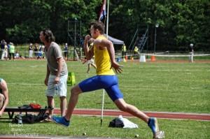 Bart Hondeveld sprong in Oosterhout 6.16 meter