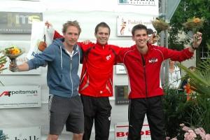 5 km: Mitchell van Oudenaarden, Alwin Roovers en Jeroen Nijland