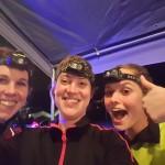 Wendy, Marloes en Kelly na afloop van de Nightrun